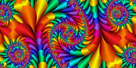 fractal pattern, rainbow