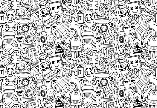 Cool modern seamless pattern