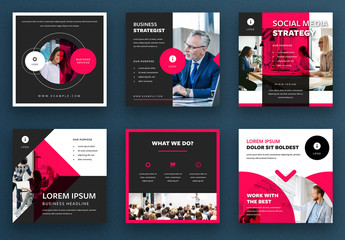 Red Business Social Media Post Layout Kit