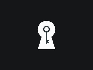 The key hole is a vector illustration for any use