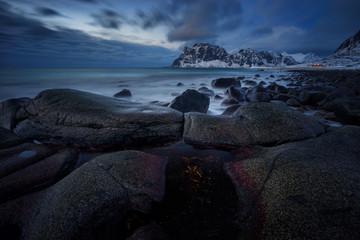 Uttakleiv beach stones