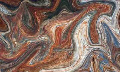 Hand painted background with mixed liquid Abstract fluid acrylic painting - 351037685