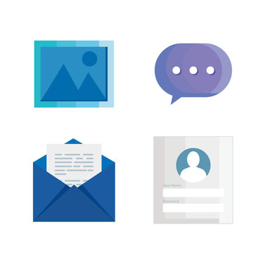 set of login password information and icons design