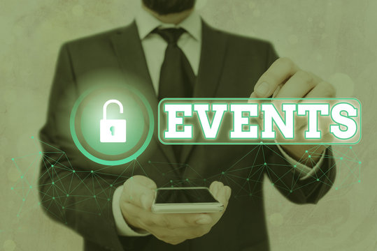 Text sign showing Events. Business photo showcasing Function to generate money for non profit a Crowded Occassion