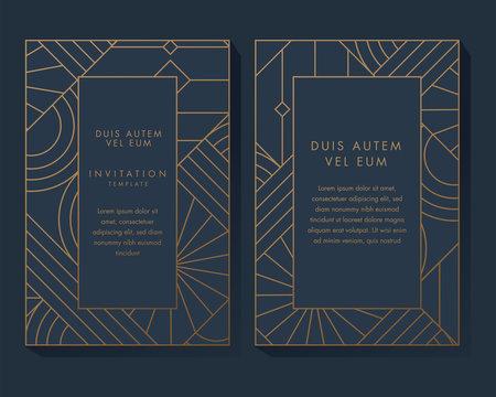 Blue and Gold Invitation Design