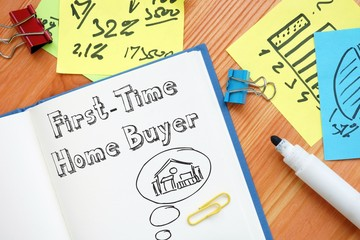 First-Time Home Buyer sign on the page.