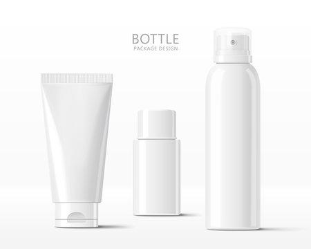 Realistic cosmetic bottle mock-ups
