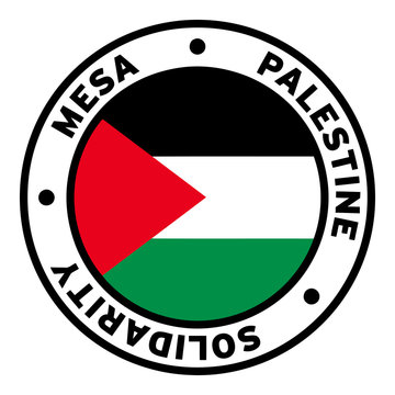 Round Mesa Palestine Solidarity Flag Clipart