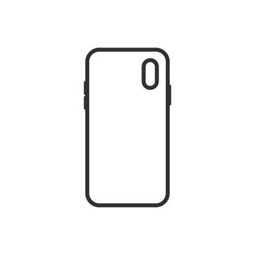 Smartphone case icon. Vector Illustration