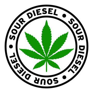 Round Sour Diesel Marijuana Strain Clipart