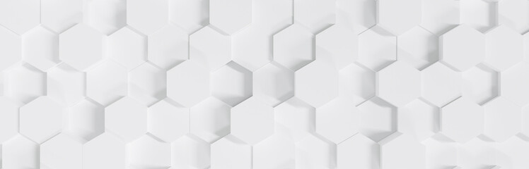 Abstract 3d octagon background wallpaper pattern. 3d white background texture with modern geometric shape. Empty showcase for advertising and banner on website. Mockup with gray podium scene concept.
