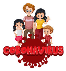 Keuken foto achterwand Kids Family member with coronavirus sign