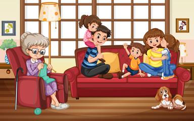 Keuken foto achterwand Kids Family stay at home