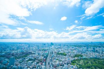 東京風景 2019年 初夏 渋谷を中心としたワイドな町並みを望む