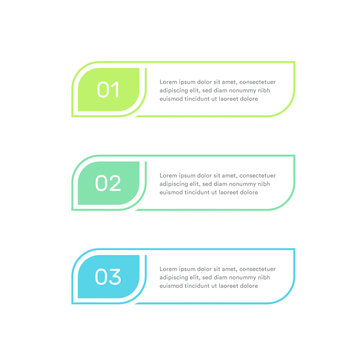 Three steps infographic elements, colorful timeline, subscription plans. Three options design template for web, presentations. Vector illustration. ESP 10.