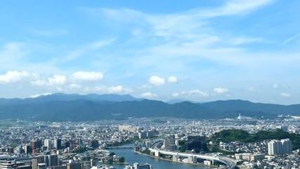 Wall Mural - 都市風景 福岡市 ノーマルスピード