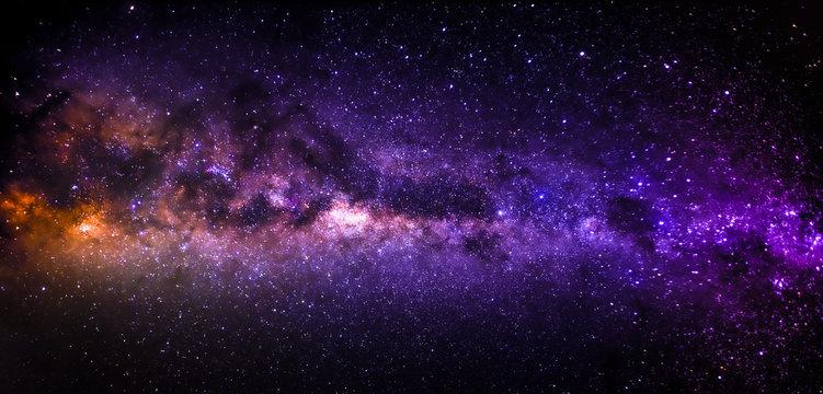 Milky way core in landscape