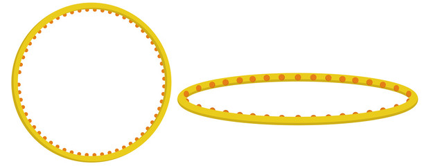 Flat vector illustration: hula hoop.