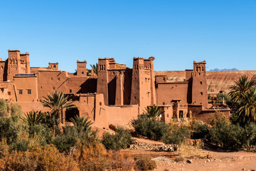 Canvas Prints Morocco Fortress or kashba in Ait ben Haddou, Morocco