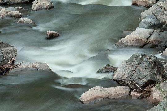 Long exposure mountain river