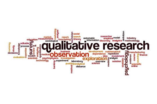 Qualitative research cloud concept