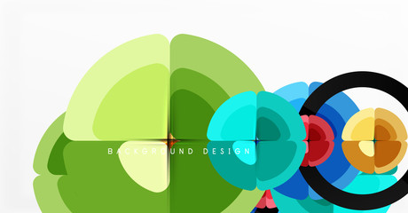Keuken foto achterwand Honden Abstract background, trendy color circles geometrical composition. Vector Illustration For Wallpaper, Banner, Background, Card, Book Illustration, landing page