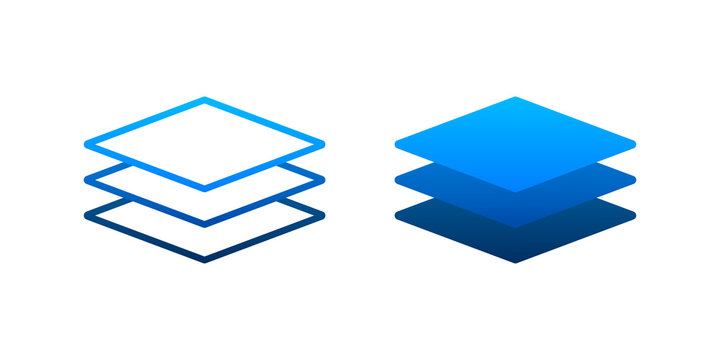 Layers icon, three levels. Vector stock illustration.