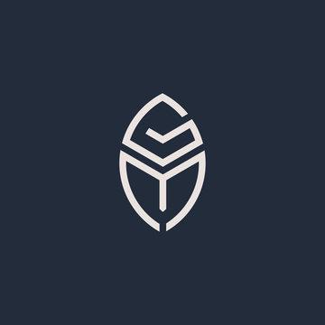 Letters G and M or GM line logo design. Linear minimal stylish emblem. Luxury elegant vector element. Premium business logotype. Graphic alphabet symbol for corporate business identity