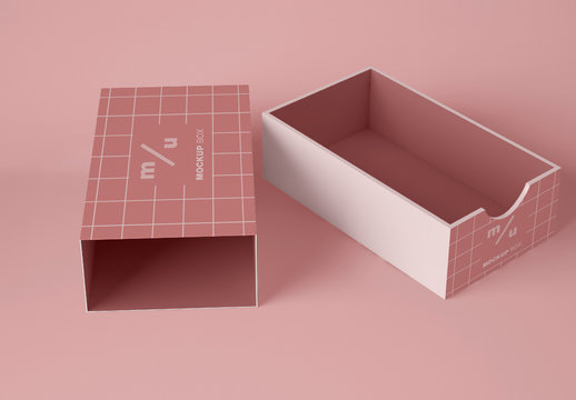 Opened Package Box Mockup