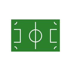 Football pitch vector graphic