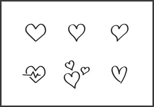 Hearts Love Icon Art Kit