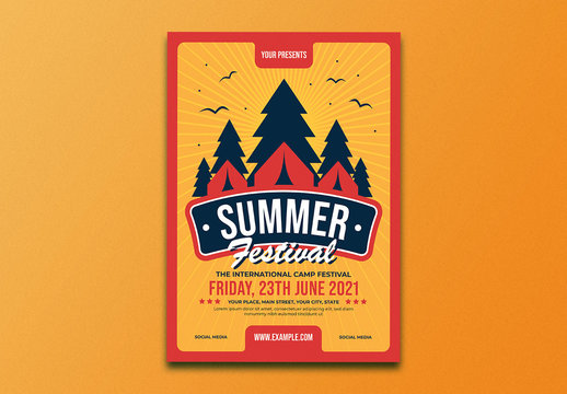 Summer Festival Event Flyer Layout