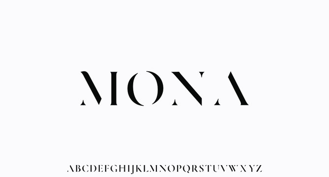 MONA. the luxury and elegant font glamour style