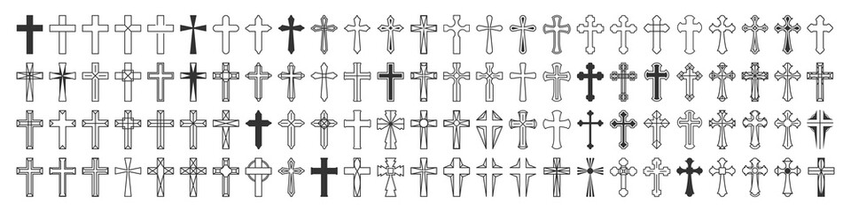 Christian Cross Vector Set Collection