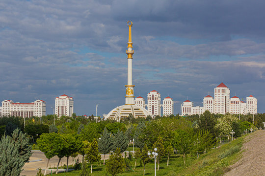 Independence Monument in Ashgabat, Turkmenistan