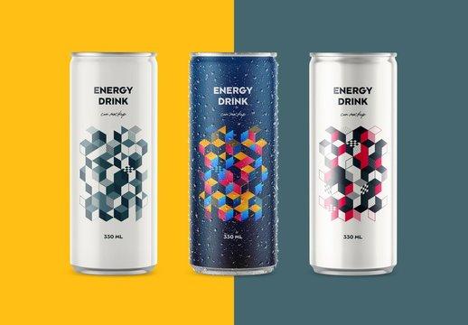 Glossy and Matte Soda Aluminum Can Mockups