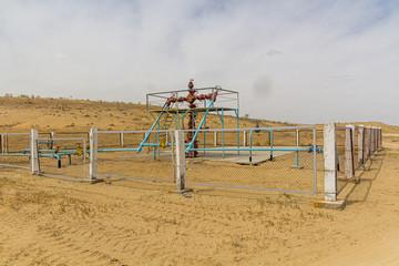 Natural gas facility near Darvaza (Derweze) in Turkmenistan