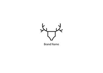 vector illustration of a deer logo