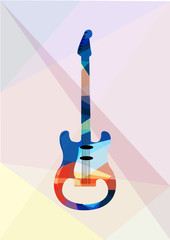 guitar with music notes