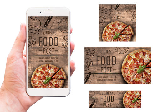 Foodie Social Media Banner Layouts