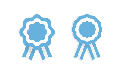 Argentina cockade. Badge with ribbons, rosette. argentinian flag colors. Vector illustration Fotomurales
