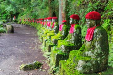 Foto op Textielframe Historisch mon. Narabi jizo temple guardian statues, Nikko, UNESCO World Heritage Site, Tochigi prefecture, Honshu, Japan, Asia