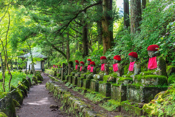 Foto op Plexiglas Historisch mon. Narabi jizo temple guardian statues, Nikko, UNESCO World Heritage Site, Tochigi prefecture, Honshu, Japan, Asia