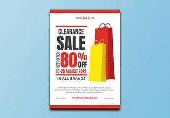 Clearance Sale Event Flyer Layout