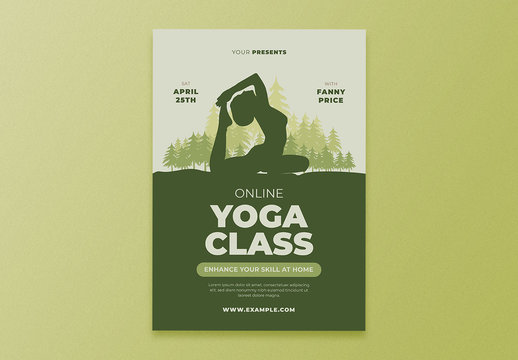 Online Yoga Class Event Flyer Layout