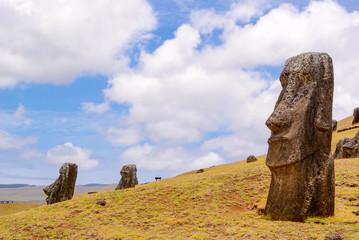 Foto op Plexiglas Historisch mon. Chile, Osterinseln, Moais in der Anlage Tahai