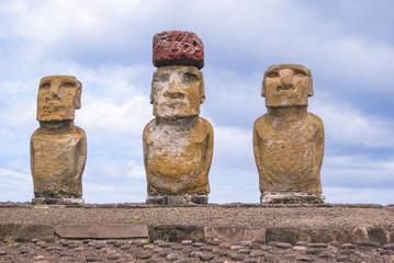 Foto op Plexiglas Historisch mon. Chile, Osterinseln, Moais in der Anlage Tahai, Tongariki