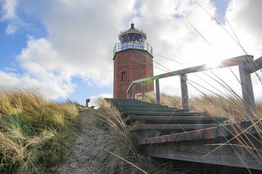 Deutschland, Schleswig-Holstein, Sylt, Kampen, Quermarkenfeuer - Leuchtturm in Kampen