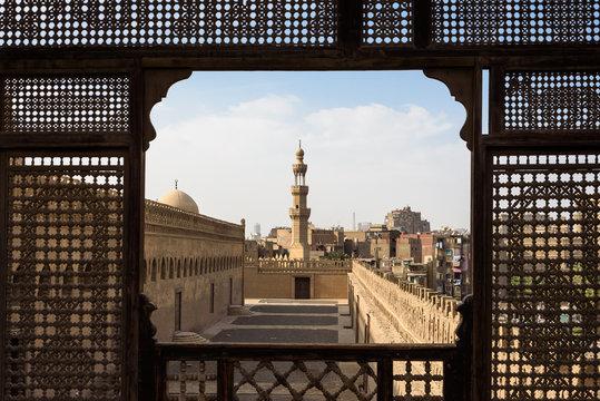Ägypten, Kairo Gouvernement, Kairo, Blick von der Dachterasse des Gayer-Anderson-Museums