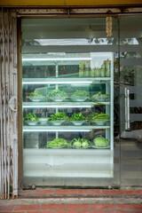 Vietnam, Hà Nội, Hanoi, Stadtteil Cong Vi Ba Dinh / Q. Ba Dính, ein Supermarkt für Gemüse